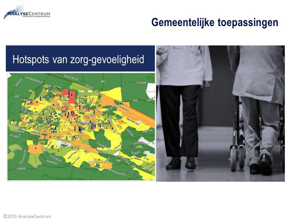 ©2015 AnalyseCentrum Gemeente dashboard / inzichten in prestatievelden sociaal domein Kwalitatieve inzichten ondersteund door een datafundament voor beleid en sturing, samenwerking en coördinatie.