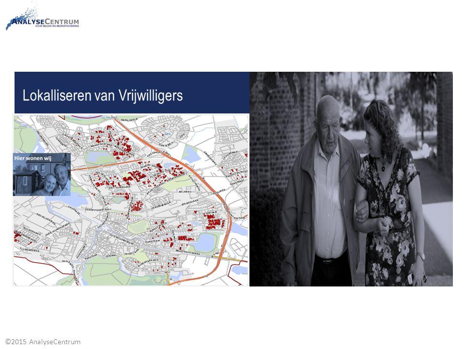 ©2015 AnalyseCentrum Lokalliseren van Vrijwilligers