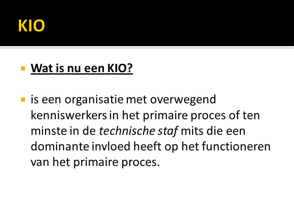  Wat is nu een KIO.