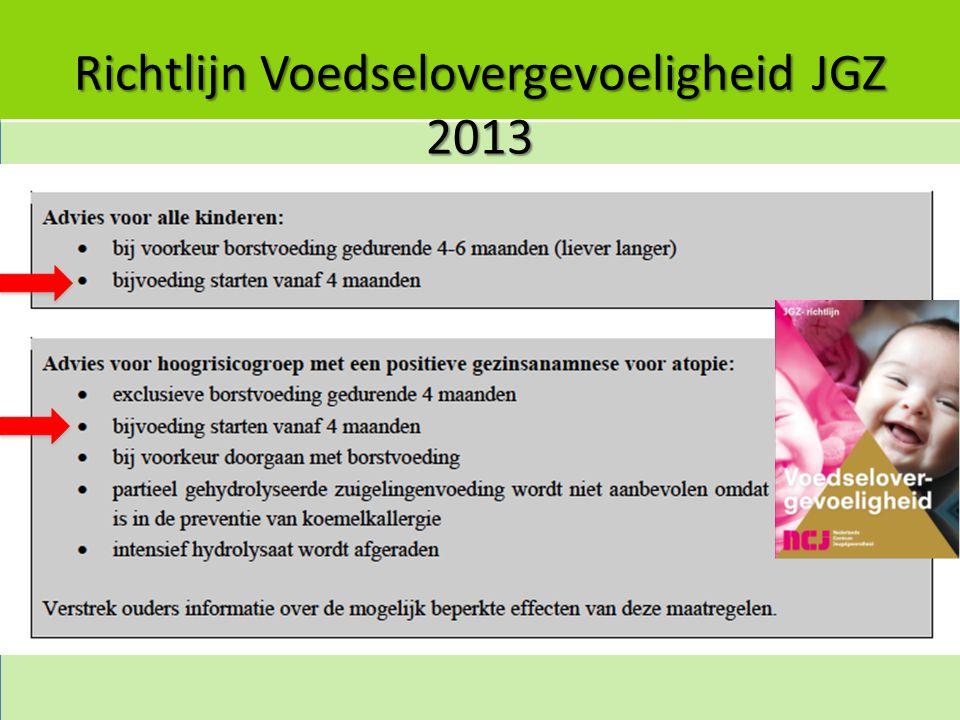 Richtlijn Voedselovergevoeligheid JGZ 2013