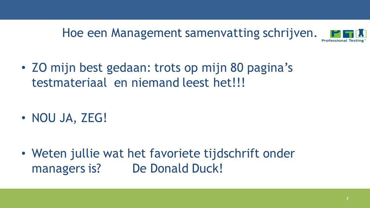 Hoe een Management samenvatting schrijven.