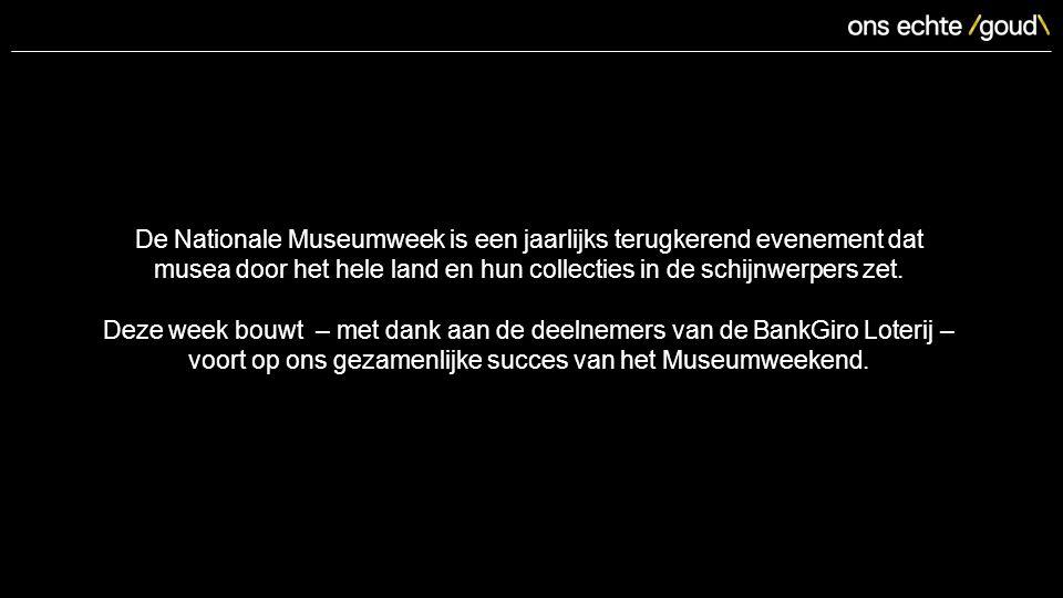 De Nationale Museumweek is een jaarlijks terugkerend evenement dat musea door het hele land en hun collecties in de schijnwerpers zet.