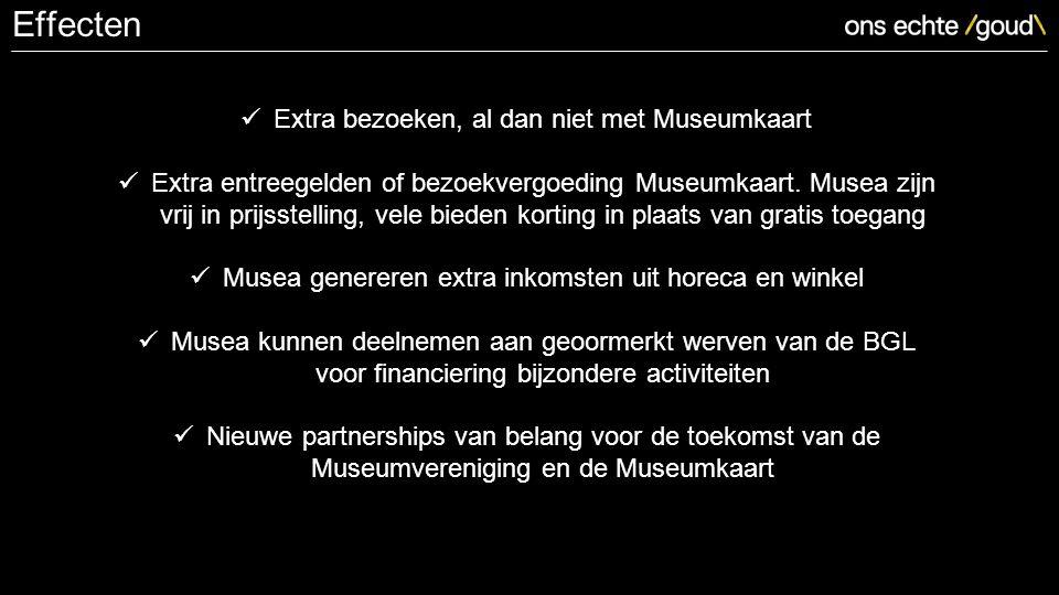 Extra bezoeken, al dan niet met Museumkaart Extra entreegelden of bezoekvergoeding Museumkaart.