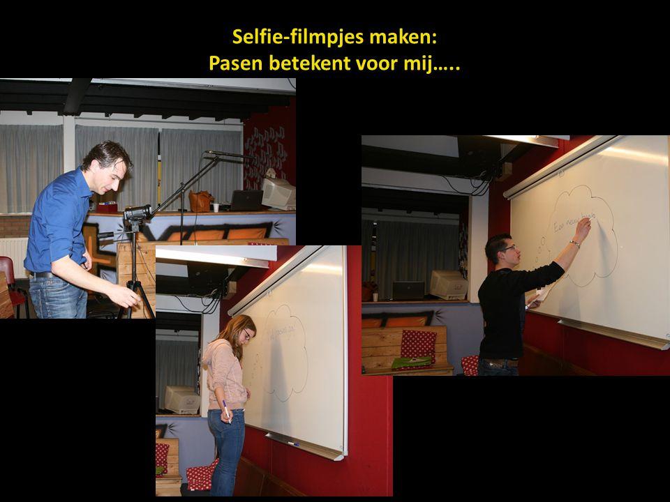 Selfie-filmpjes maken: Pasen betekent voor mij…..