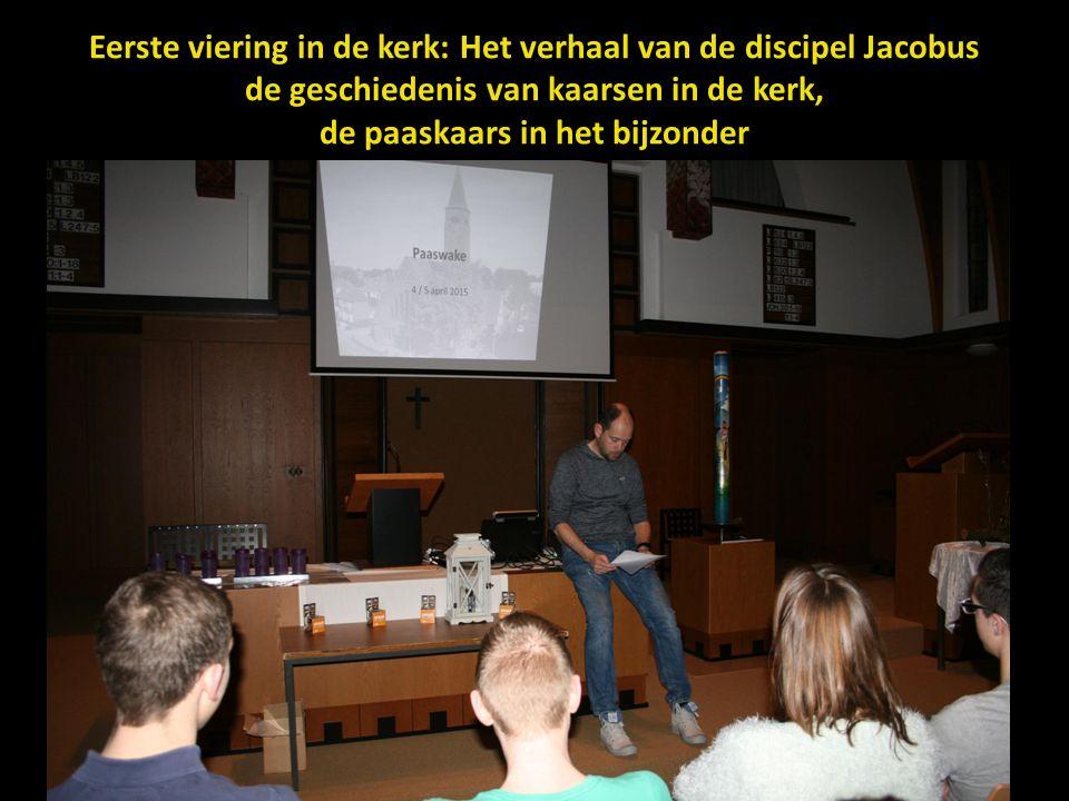 Eerste viering in de kerk: Het verhaal van de discipel Jacobus de geschiedenis van kaarsen in de kerk, de paaskaars in het bijzonder