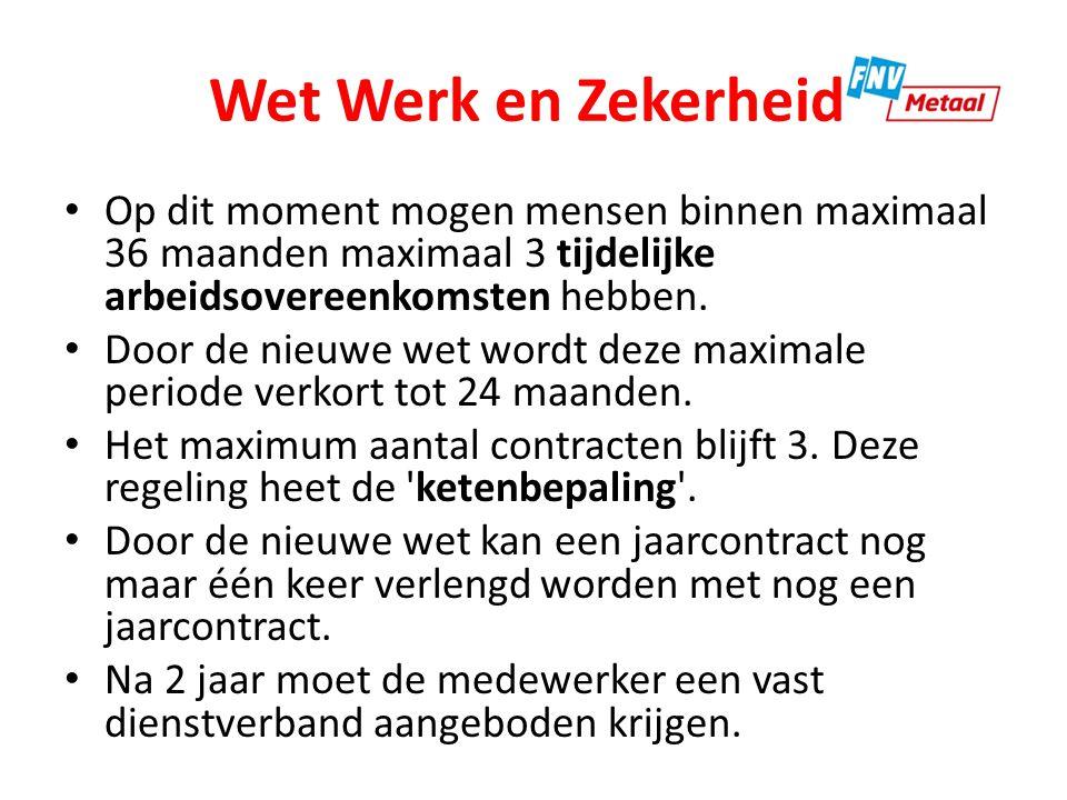 Wet Werk en Zekerheid Deze regeling gaat in per 1 juli 2015.