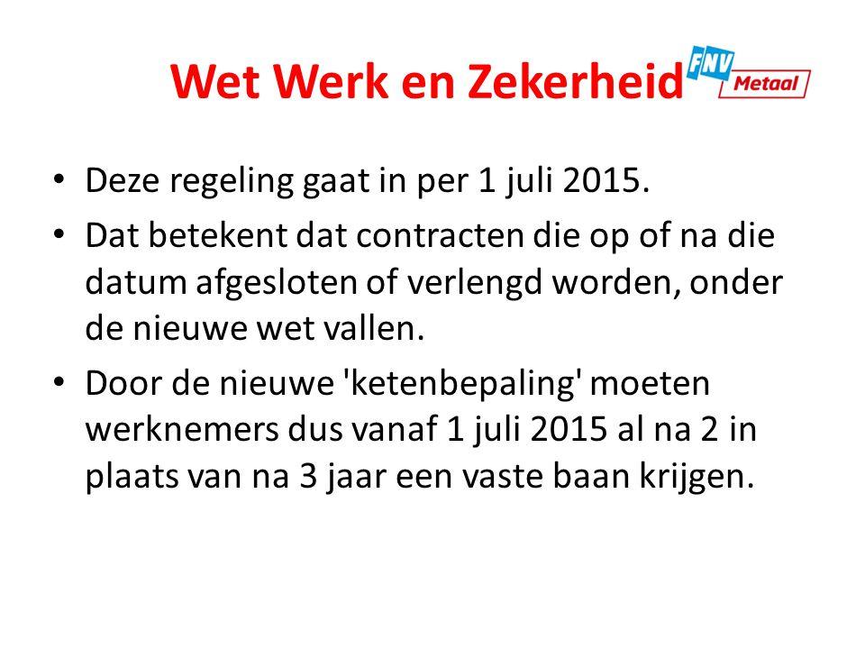 Wet Werk en Zekerheid Nu wordt dit vaak omzeild door mensen 3 maanden naar huis te sturen en hen daarna opnieuw te laten beginnen.