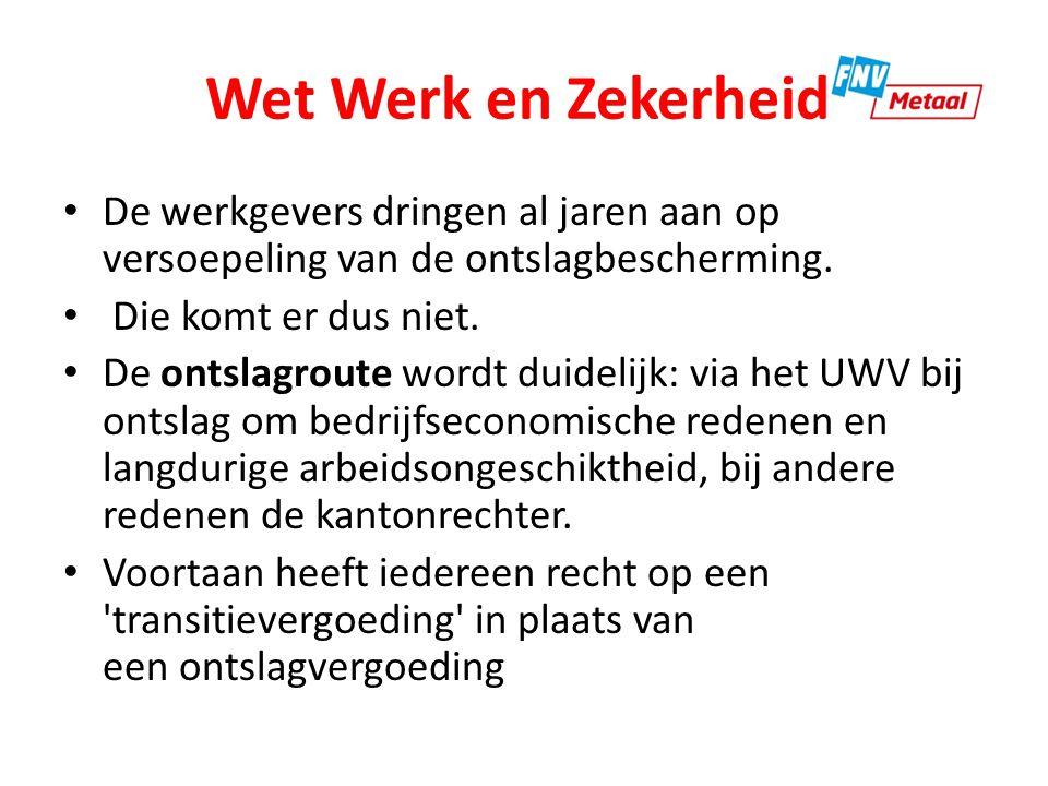 Wet Werk en Zekerheid De ontslagbescherming blijft bestaan.