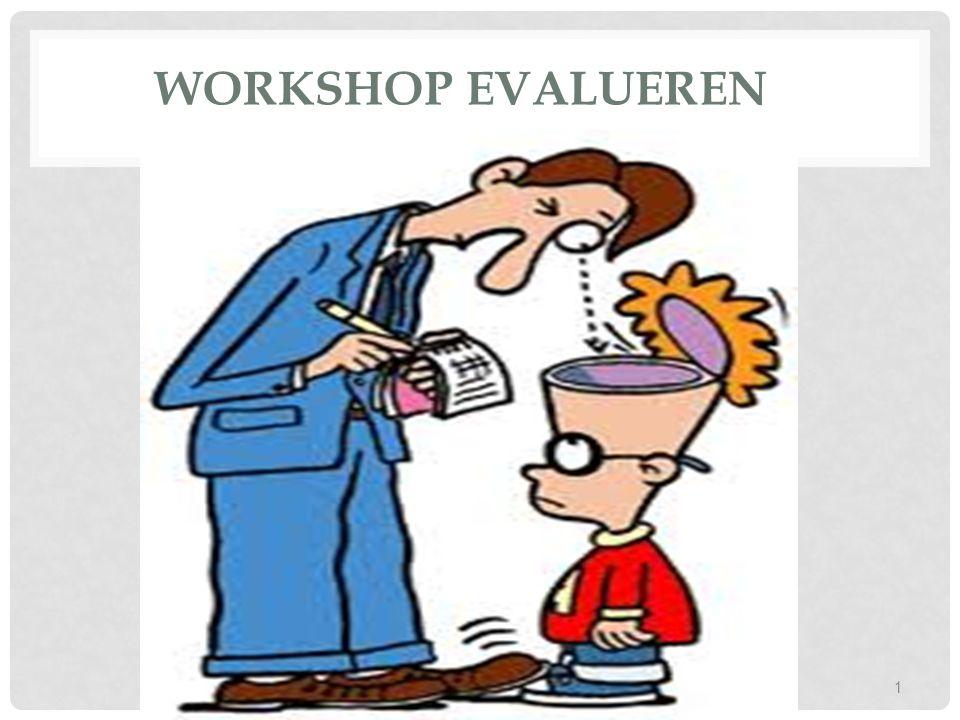 WORKSHOP EVALUEREN Workshop evalueren Dcp1