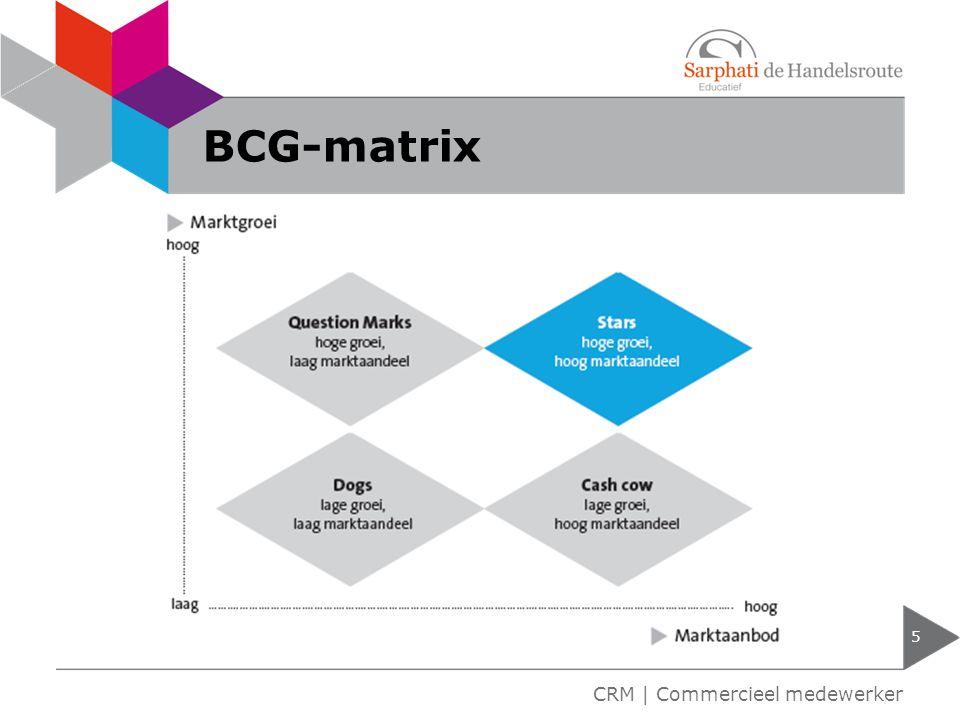 BCG-matrix 5 CRM | Commercieel medewerker