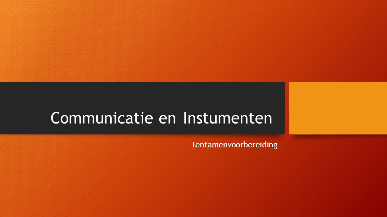 Inhoud Communicatiebeleid Communicatieplanning Communicatie -processen en -theorieën Communicatie modellen Media