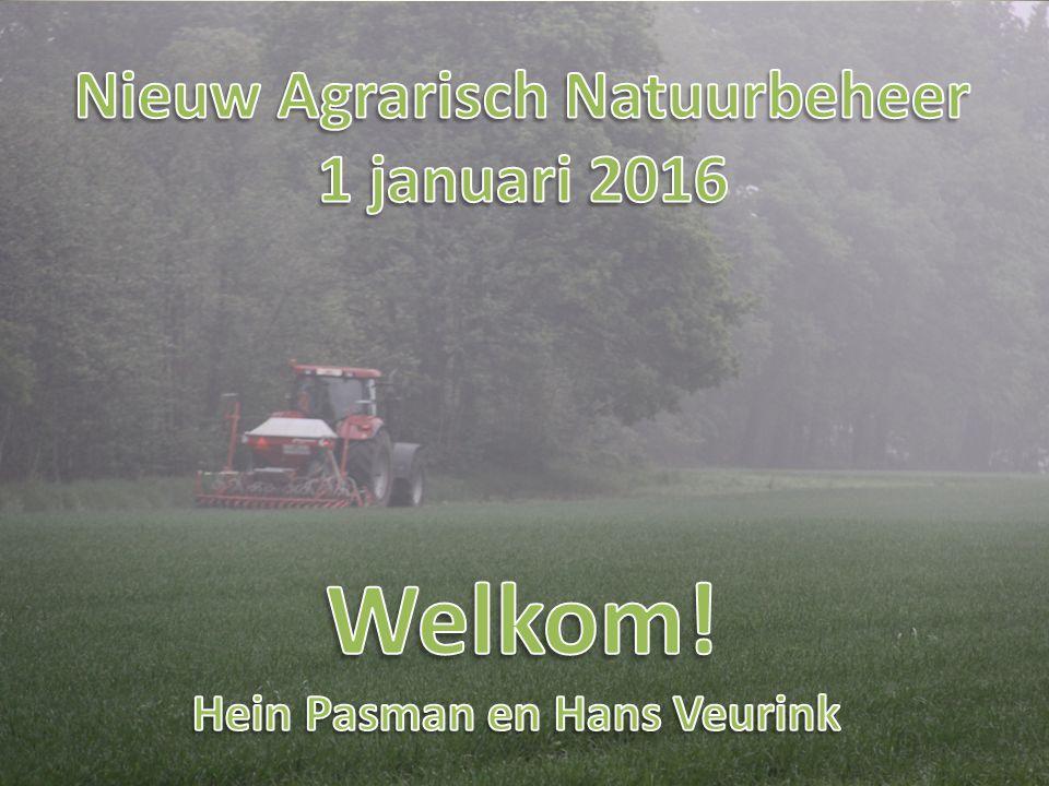 Aanleiding nieuw stelsel Nieuw EU landbouwbeleid per 1 januari 2016 Pijler 1: directe betalingen en vergroening Pijler 2: agrarisch natuur- & landschapsbeheer Natuurresultaat moet beter Uitvoeringskosten moeten lager Collectieven zijn de kern van nieuw stelsel