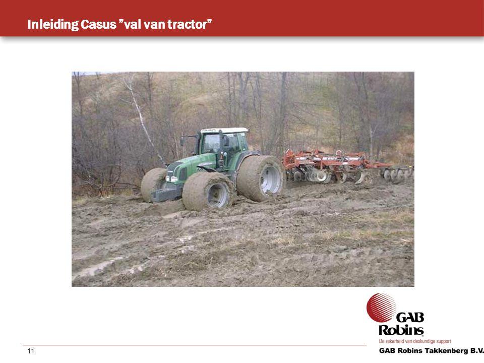 11 Inleiding Casus val van tractor