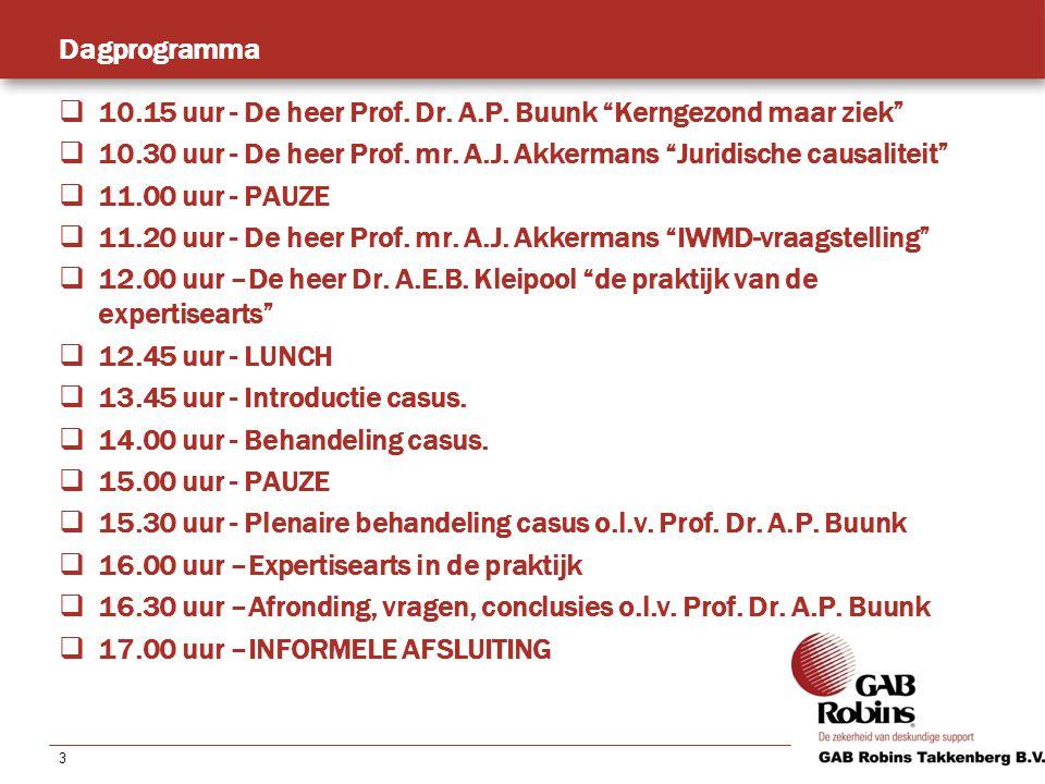 3 Dagprogramma  10.15 uur - De heer Prof. Dr. A.P.
