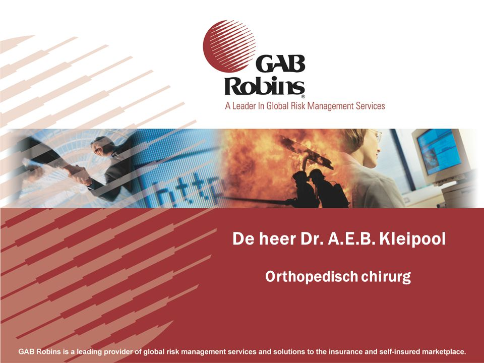 De heer Dr. A.E.B. Kleipool Orthopedisch chirurg