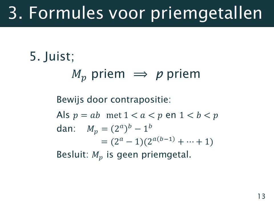 13 3. Formules voor priemgetallen