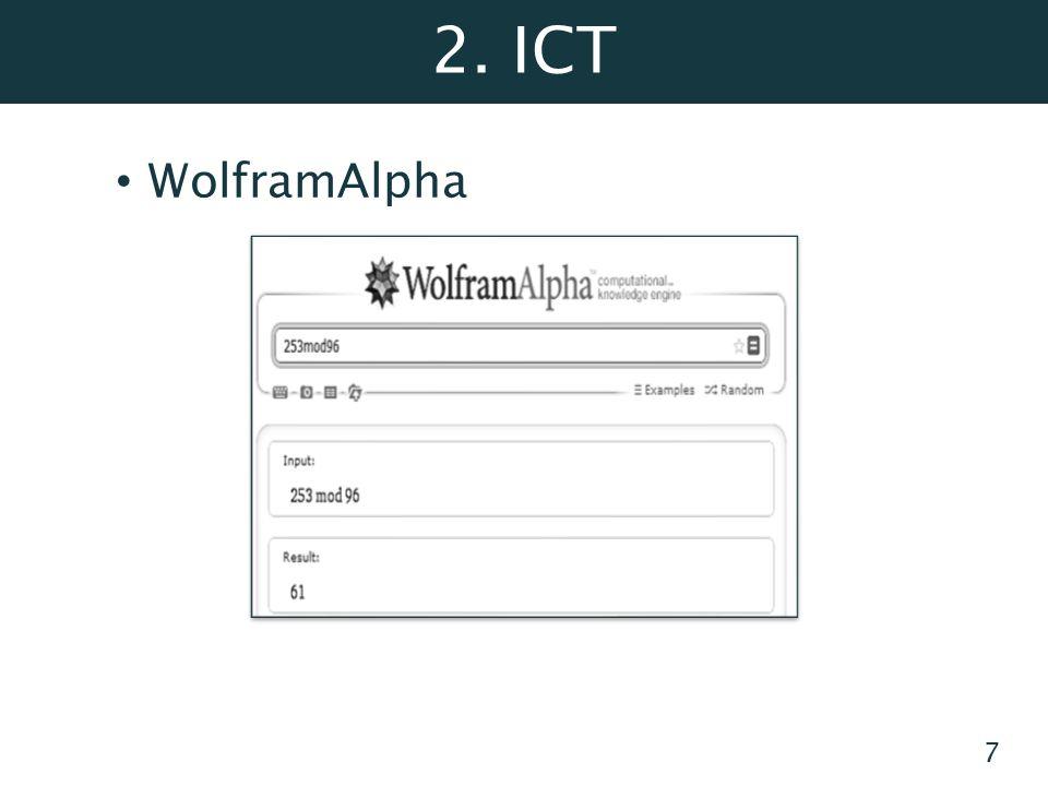 2. ICT WolframAlpha 7