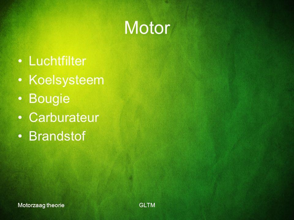 Motorzaag theorieGLTM Motor Luchtfilter Koelsysteem Bougie Carburateur Brandstof