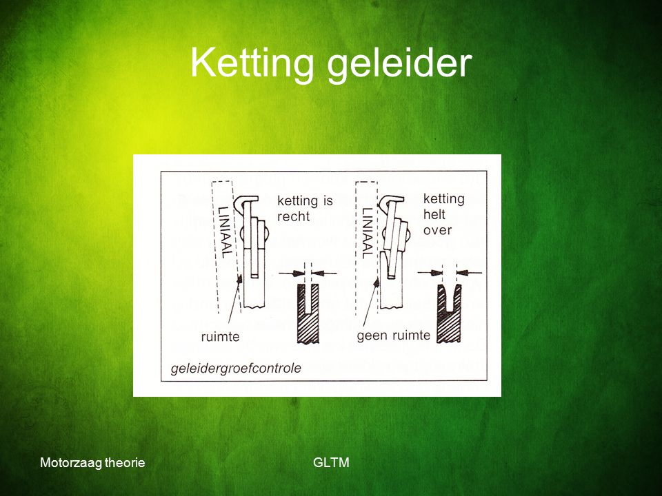 Motorzaag theorieGLTM Ketting geleider