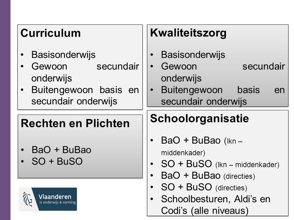 Curriculum Basisonderwijs Gewoon secundair onderwijs Buitengewoon basis en secundair onderwijs Curriculum Basisonderwijs Gewoon secundair onderwijs Bu