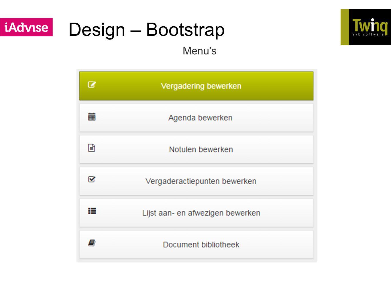 Design – Bootstrap Menu's