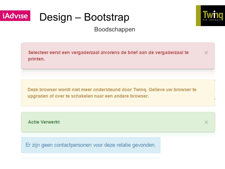 Design – Bootstrap Boodschappen