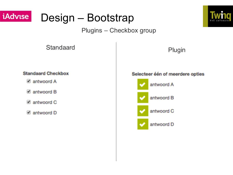 Design – Bootstrap Plugins – Checkbox group Standaard Plugin