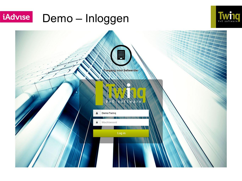 Demo – Inloggen