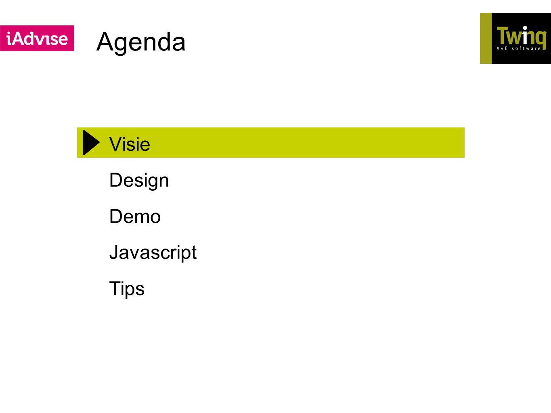 Agenda Visie Design Demo Javascript Tips