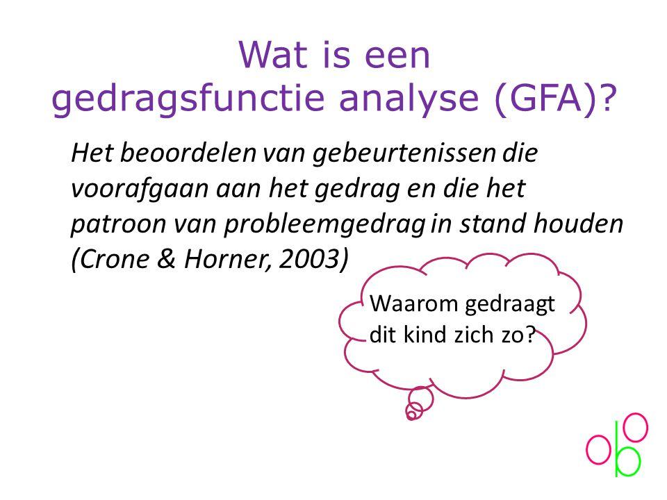 Wat is een gedragsfunctie analyse (GFA).