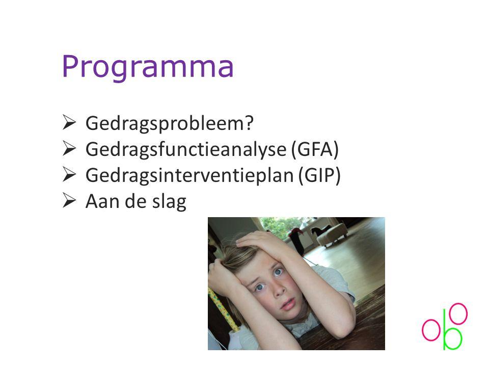 Programma  Gedragsprobleem.