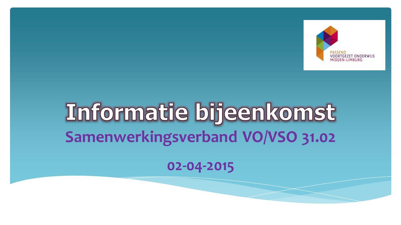Samenwerkingsverband VO/VSO 31.02 02-04-2015