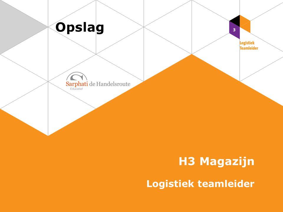 Opslag H3 Magazijn Logistiek teamleider