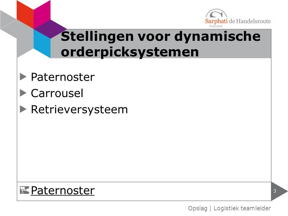 Paternoster Carrousel Retrieversysteem 3 Opslag | Logistiek teamleider Stellingen voor dynamische orderpicksystemen Paternoster