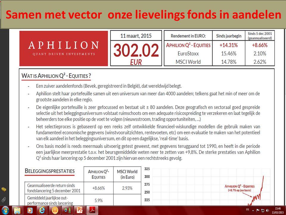 14/04/2015 35 Samen met vector onze lievelings fonds in aandelen