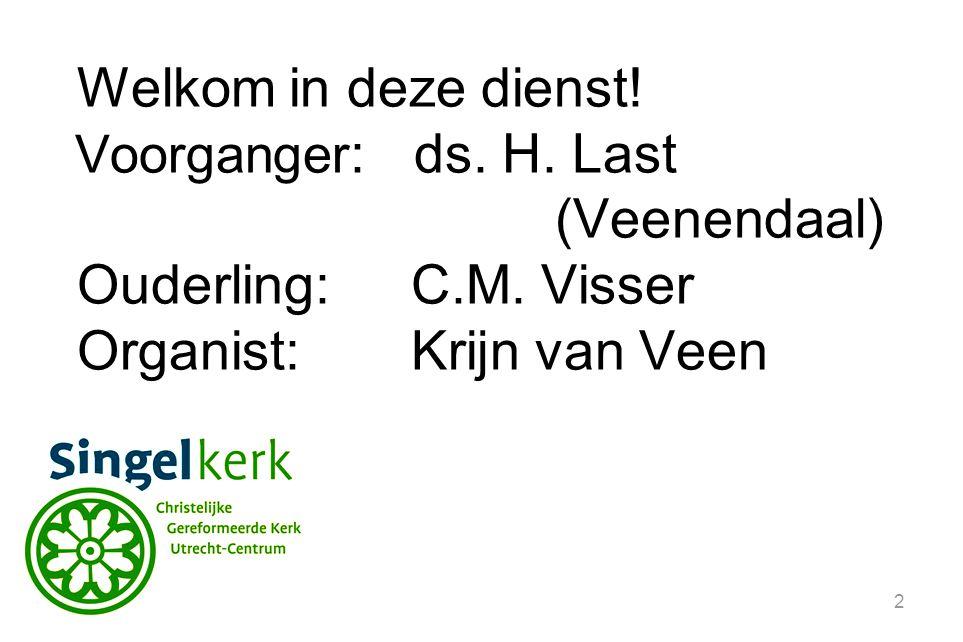 43 Vanmiddag begint de dienst om 17 uur. Voorganger: ds. K.T. de Jonge uit Nieuwegein.