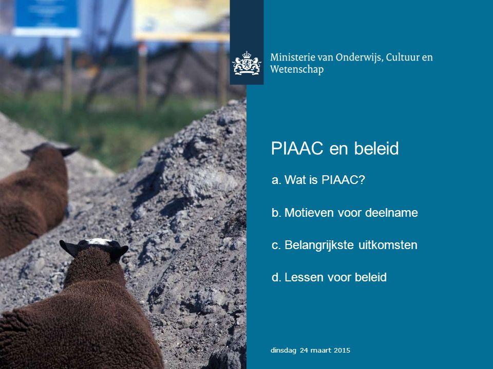 PIAAC en beleid a.Wat is PIAAC.