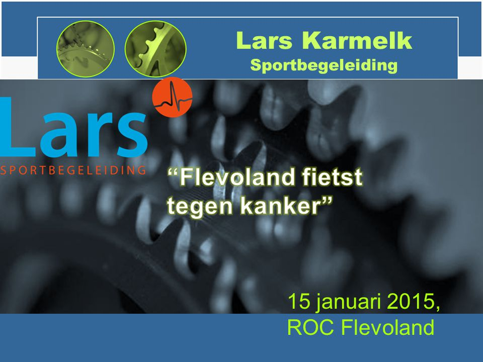 Lars Karmelk Sportbegeleiding 15 januari 2015, ROC Flevoland