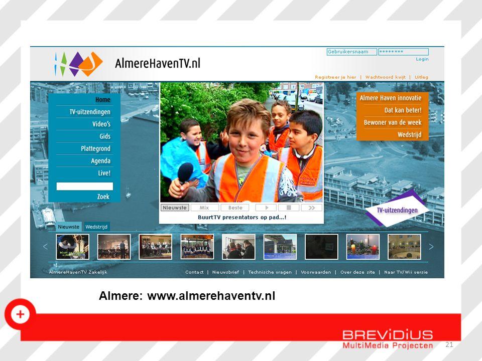 21 Almere: www.almerehaventv.nl