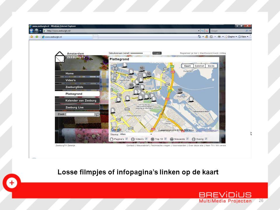 Losse filmpjes of infopagina's linken op de kaart 26