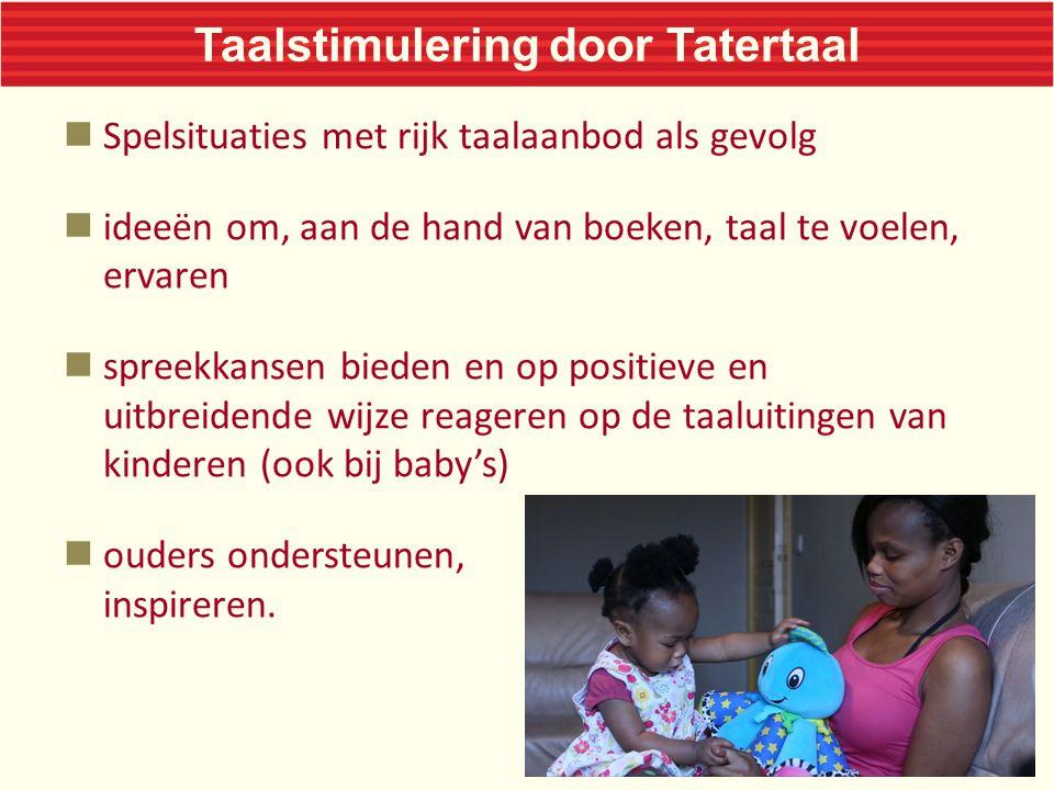 Tatertaal voor ouders Een rugzak met materialen (boeken, tips, fotoboek, dvd)