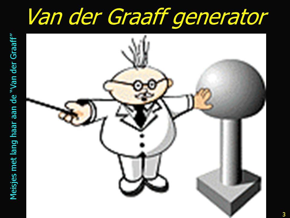 3 Van der Graaff generator Meisjes met lang haar aan de Van der Graaff