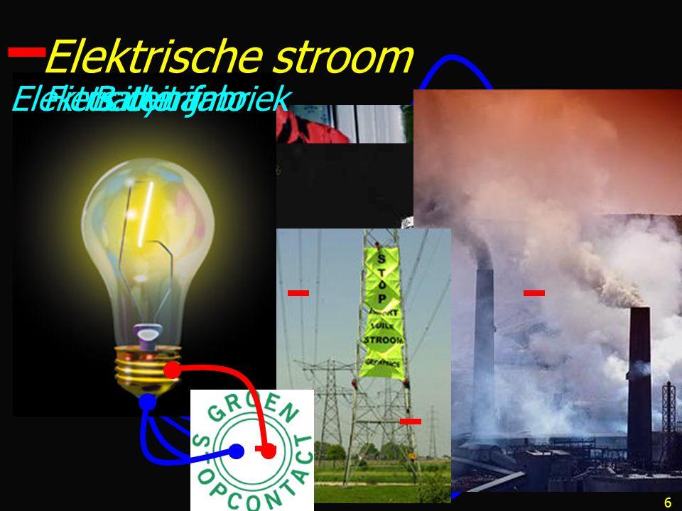 6 Elektrische stroom BatterijFiets dynamoElektriciteit fabriek