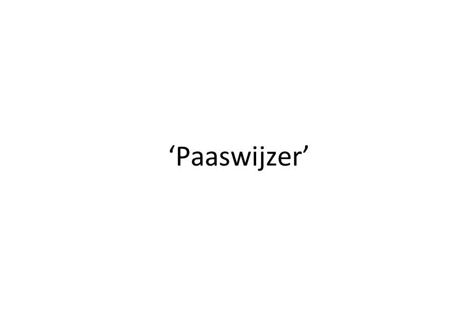 'Paaswijzer'