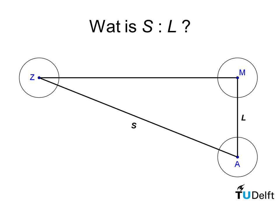 Wat is S : L ?