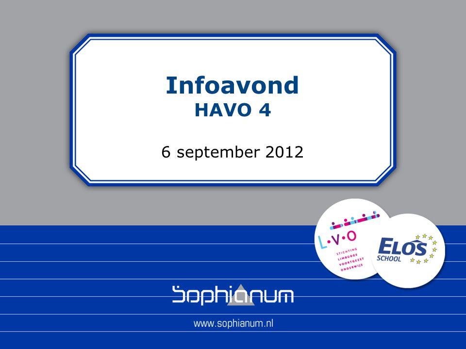 Infoavond HAVO 4 6 september 2012