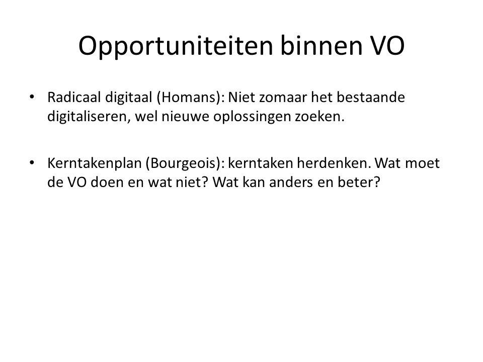 Radicaal digitaal (Homans): Niet zomaar het bestaande digitaliseren, wel nieuwe oplossingen zoeken.