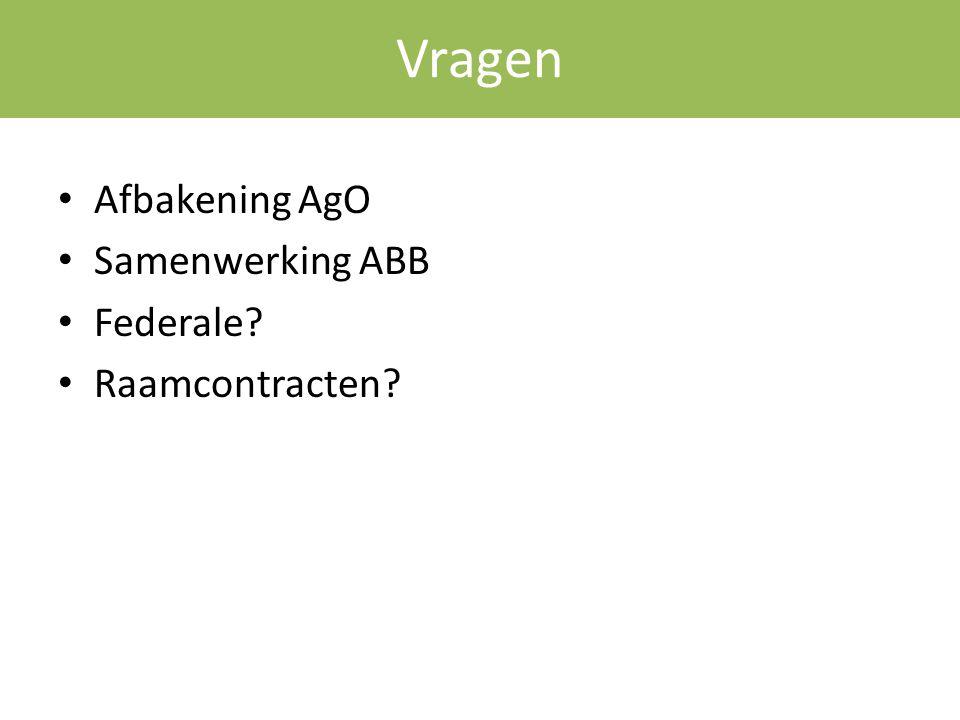 Vragen Afbakening AgO Samenwerking ABB Federale Raamcontracten