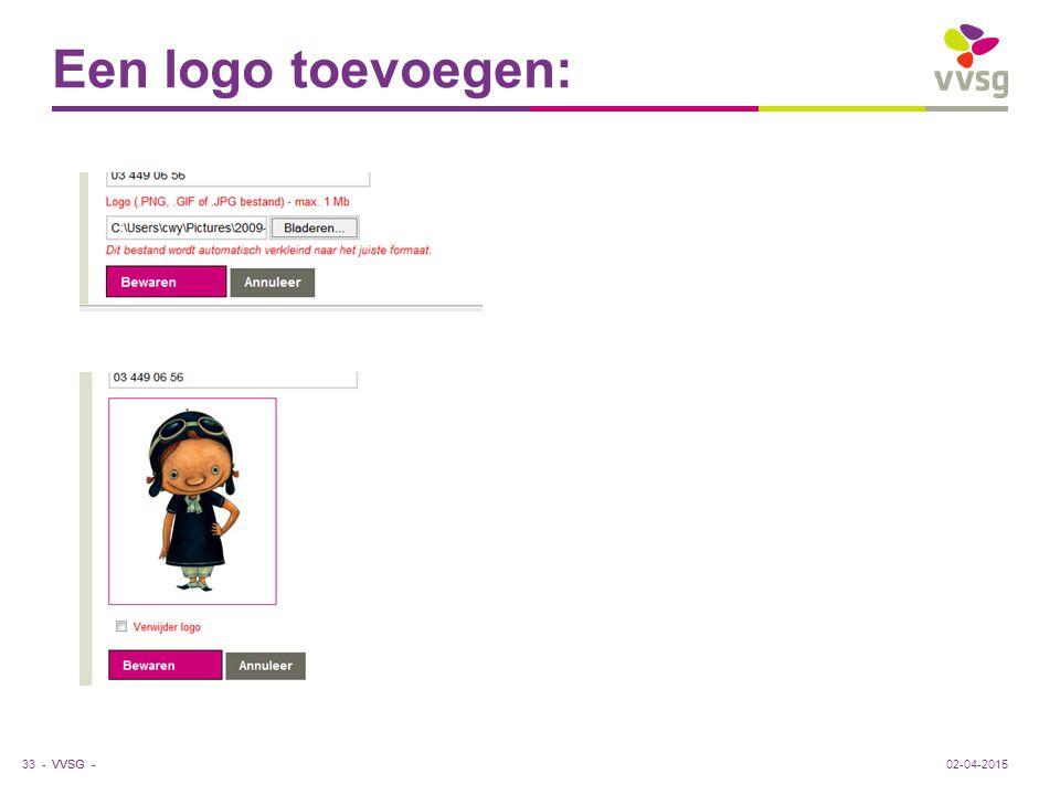 VVSG - Een logo toevoegen: 02-04-201533 -