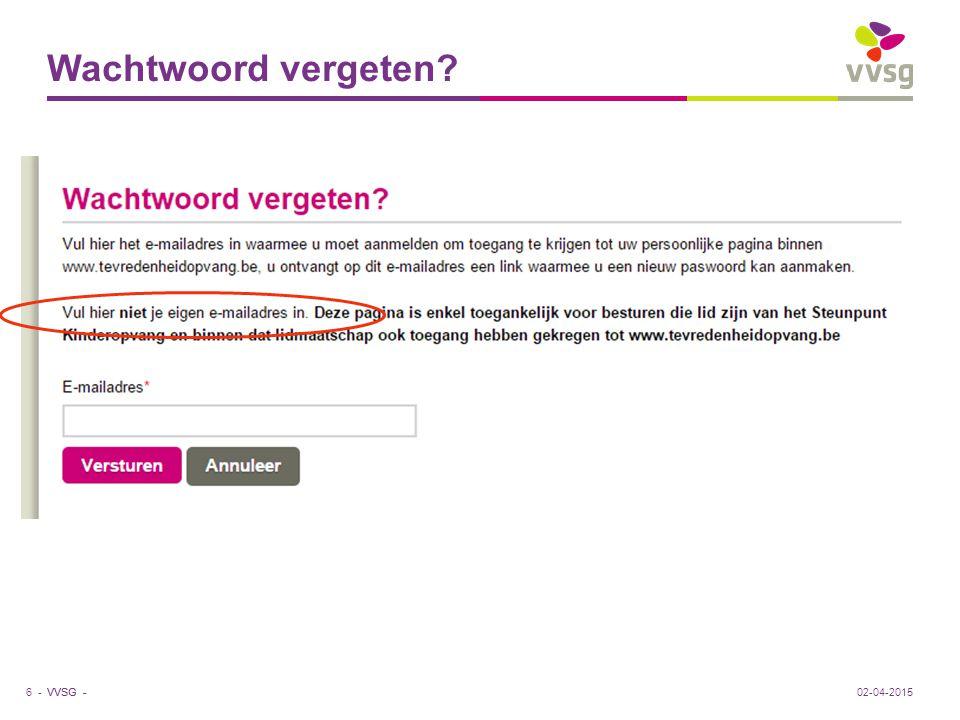 VVSG - Nieuwe kleuren.